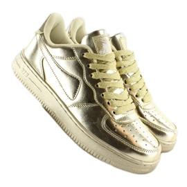 Sportowe buty crazy colours B731 Gold żółte 1