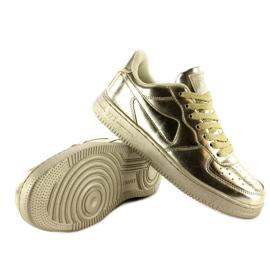 Sportowe buty crazy colours B731 Gold żółte 2