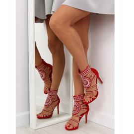 Sandałki gladiatorki czerwone GH-2776 Red 1