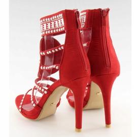 Sandałki gladiatorki czerwone GH-2776 Red 5