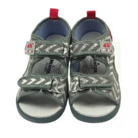 American Club szare sandałki dziecięce TEN36 czerwone 4
