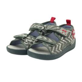 American Club szare sandałki dziecięce TEN36 czerwone 3