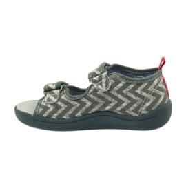American Club szare sandałki dziecięce TEN36 czerwone 2