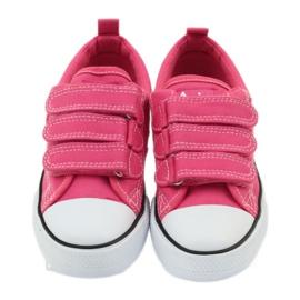 American Club American trampki tenisówki buty dziecięce różowe 4