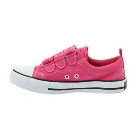 American Club American trampki tenisówki buty dziecięce różowe 2