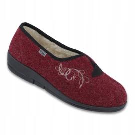 Befado obuwie damskie pu 940D355 czerwone 1