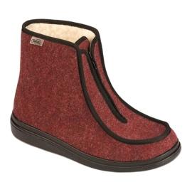 Befado obuwie damskie pu 996D005 czerwone 1