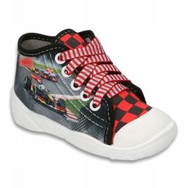 Befado obuwie dziecięce 218P050 szare czerwone 1