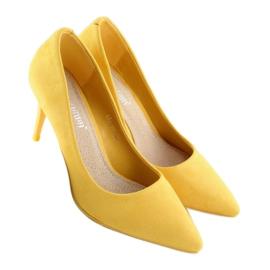 Zamszowe szpilki żółte LEI-90 Yellow 1