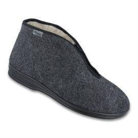 Befado obuwie męskie pu 100M047 szare 1
