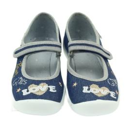Befado obuwie dziecięce kapcie balerinki 114y313 3