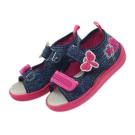 American Club American buty dziecięce sandałki motylki wkładka skórzana 4