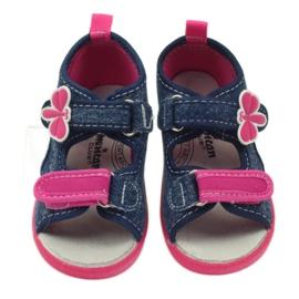 American Club American buty dziecięce sandałki motylki wkładka skórzana 3