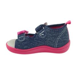 American Club American buty dziecięce sandałki motylki wkładka skórzana 2