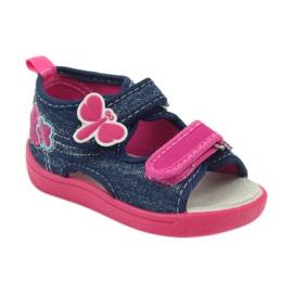American Club American buty dziecięce sandałki motylki wkładka skórzana 1