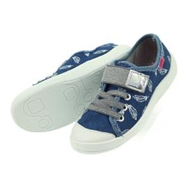 Befado buty dziecięce kapcie trampki 251y111 białe niebieskie szare 5