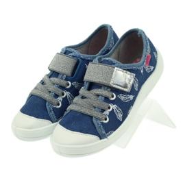 Befado buty dziecięce kapcie trampki 251y111 białe niebieskie szare 4