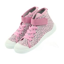 Befado buty dziecięce trampki 268x057 różowe szare 3