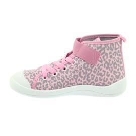 Befado buty dziecięce trampki 268x057 różowe szare 2