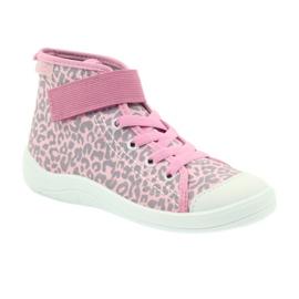 Befado buty dziecięce trampki 268x057 różowe szare 1