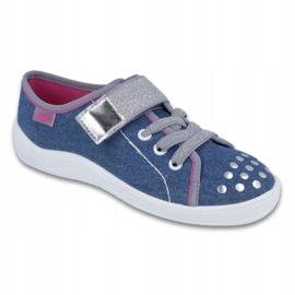 Befado obuwie dziecięce 251Q109 niebieskie 1