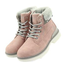 American Club American kozaki trzewiki buty zimowe 708122 szare różowe 3