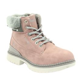 American Club American kozaki trzewiki buty zimowe 708122 szare różowe 1
