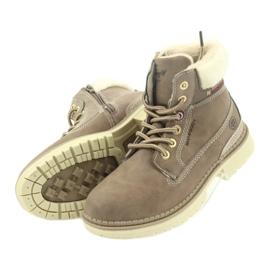 American Club American kozaki trzewiki buty zimowe 708122 brązowe 4