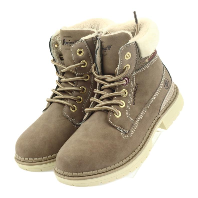 American Club brązowe American kozaki trzewiki buty zimowe 708122 zdjęcie 3