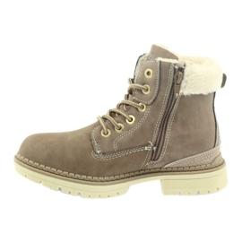 American Club American kozaki trzewiki buty zimowe 708122 brązowe 2