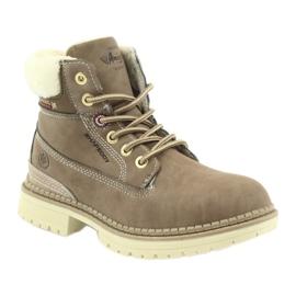 American Club American kozaki trzewiki buty zimowe 708122 brązowe 1
