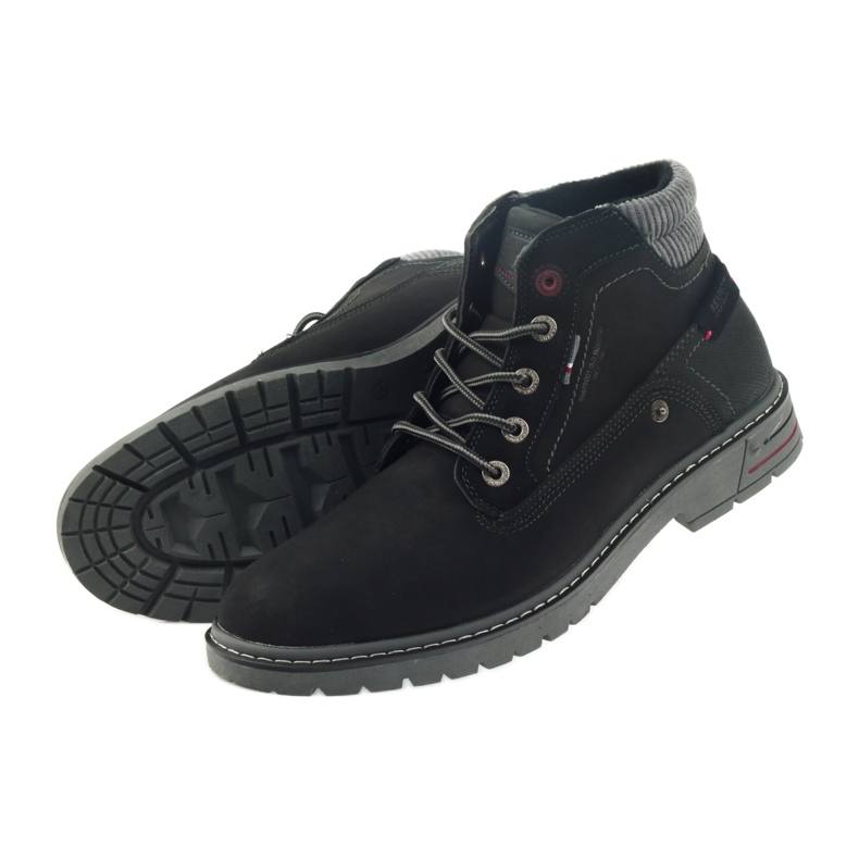 American Club czarne American trapery buty zimowe trekkingi zdjęcie 4