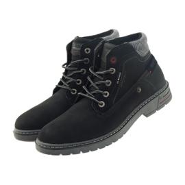 American Club American trapery buty zimowe trekkingi czarne 3