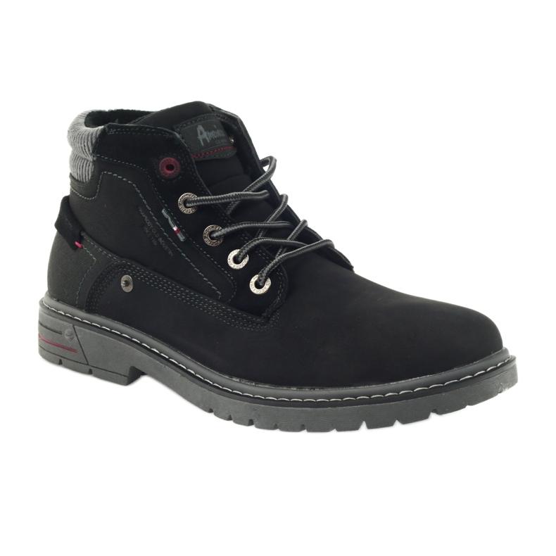 American Club czarne American trapery buty zimowe trekkingi zdjęcie 1