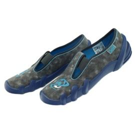 Befado buty dziecięce kapcie 290y163 niebieskie szare 5