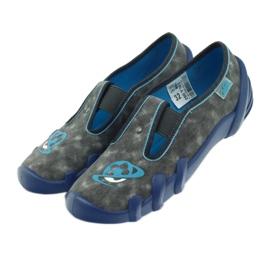 Befado buty dziecięce kapcie 290y163 niebieskie szare 4