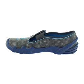 Befado buty dziecięce kapcie 290y163 niebieskie szare 2