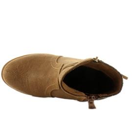 Botki sztyblety dziecięce k1647301 Camel brązowe 6