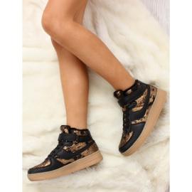 Dziecięce buty sportowe ocieplane k1646103 Oro brązowe 4