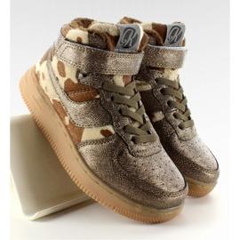 Dziecięce buty sportowe ocieplane k1646103 Bronce brązowe 2