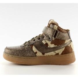 Dziecięce buty sportowe ocieplane k1646103 Bronce brązowe 1