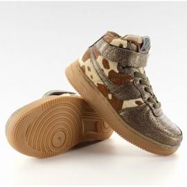 Dziecięce buty sportowe ocieplane k1646103 Bronce brązowe 3