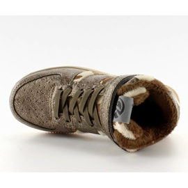 Dziecięce buty sportowe ocieplane k1646103 Bronce brązowe 4