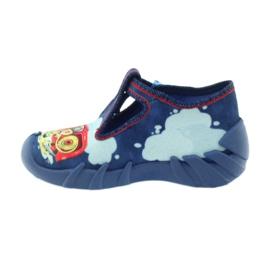 Befado buty dziecięce kapcie 110p323 niebieskie wielokolorowe 2
