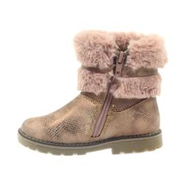 American Club American kozaki buty zimowe z futrem17042 brązowe żółte różowe 2