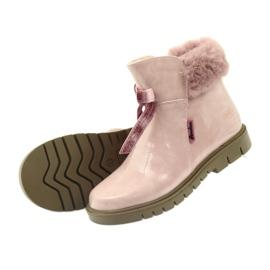 American Club American kozaki botki buty zimowe 18015 różowe 3