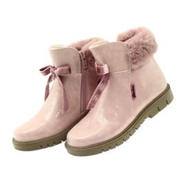 American Club American kozaki botki buty zimowe 18015 różowe 2
