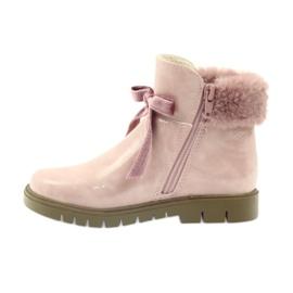 American Club American kozaki botki buty zimowe 18015 różowe 1