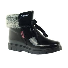 American Club American kozaki botki buty zimowe 18015 czarne 1