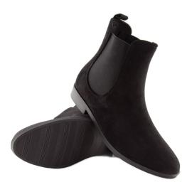 Kalosze damskie sztyblety czarne D61 Black 1
